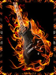 images of fire art | Animated Moving Musicians Playing Guitars, Strumming Guitar Animations