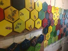 #hexagon #paintings #hive www.paulavancoller.com Flourish, Cube, Reflection, My Arts, Van, Paintings, Paint, Painting Art, Painting
