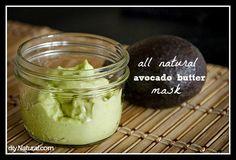 Avocado Face Mask  •1 ripe avocado, peeled and pitted   •1 egg yolk   •2 Tbs of raw honey (where to buy raw, unfiltered honey)   •1 Tbs avocado oil (where to buy avocado oil)   •1 tsp ful fat yogurt (where to buy yogurt starters)