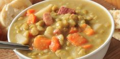Slow Cooker Split Pea with Ham - Comfort Classic!  www.GetCrocked.com