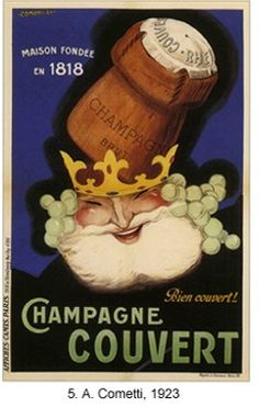 Vintage French label ~ Champagne Couvert