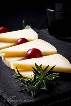 Manchego cheese with grapes mint and rosemary by huertas19  IFTTT 500px intense Spanish appetizer breakfast calcium cheese dairy delicious dieting dinner flav