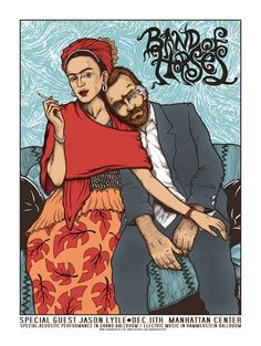 Band of Horses gig poster by Jermaine Rogers http://jungleindierock.tumblr.com/post/52617707668/jermaine-rogers