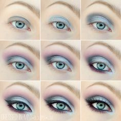 Purple Silver makeup. I kinda like this but I'm not that much of a makeup person