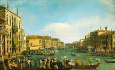 Canaletto (Venice 1697-Venice 1768), A Regatta on the Grand Canal, c.1733-4. Oil on canvas, 77.1 x 125.7 cm, RCIN 404416, Royal Collection Trust/ © Her Majesty Queen Elizabeth II 2016