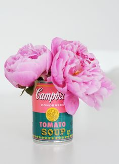 Campbell's Andy Warhol Tomato Soup Can Vaseshttp://www.fromchinavillage.com/2014/06/campbells-andy-warhol-tomato-soup-can-vases/