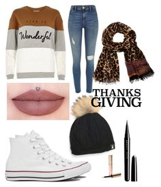 """HAPPY THANKSGIVING"" by vtorres0003 on Polyvore featuring beauty, Converse, River Island, Marc Jacobs, By Terry and Diane Von Furstenberg"