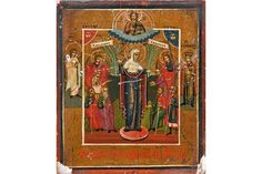 Bid Live on Lot 413 in the Art, Antiques, Collectibles Auction from Auktionshaus J. Leiden, Tempera, Religious Art, Christian, Icons, Traditional, Antiques, Painting, Gold Paint