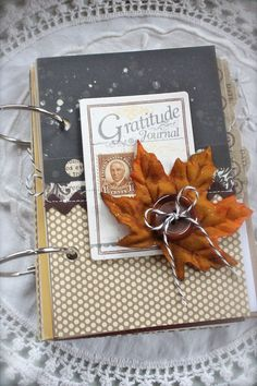 gratitude journal with lots of bits and pieces