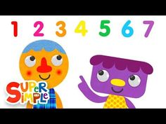 Counting songs to help preschool age children learn numbers and counting. Video visuals and music. Preschool Songs, Preschool Age, Numbers For Kids, Math Numbers, Fun Songs, Kids Songs, Learning Apps, Kids Learning, Counting Songs For Kids
