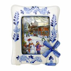 Ceramic delft blue that will add a Dutch theme to your home! - 3D Windmill Design - Hand painted - See our collection for more unique Delft Blue Porcelain items! - Approximate Dimensions (Length x Wid