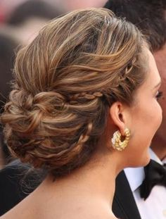 Braided Wedding Updo for Long Hair