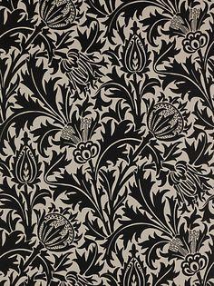 William Morris wallpaper thistle print