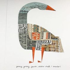 Clare Youngs is a designer-maker and paper craft collage artist, illustrator and author. Original art, giclee prints and articulated animals for sale or commission Bird Illustration, Illustrations, Bird Quilt, Paper Artist, Bird Design, Mark Making, Whimsical Art, Art Plastique, Bird Art