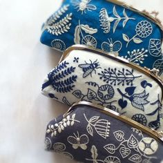 Embroidered purses.