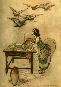 the seven ravens illustration - Google Search