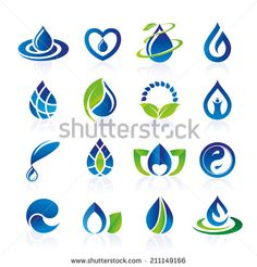 Find Water icon set stock vectors and royalty free photos in HD. Fantasy Logo, Water Icon, Drop Logo, Water Logo, World Water Day, Luxury Logo, Leaf Logo, Water Art, Icon Set