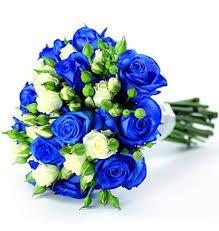 Znalezione obrazy dla zapytania bukiety ślubne niebieskie