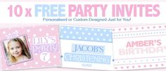 Free Custom Birthday and Christening Invites Competition