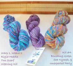 Warp 1 Weave 2 Rigid Heddle Scarf Kit  Warp once and by PurpleLamb