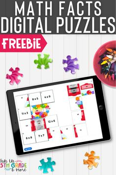 FREEBIE alert! These no prep, self checking digital math fact puzzles are perfect for independent or partner work, early finishers and distance learning! Compatible with any device including iPad, chromebooks
