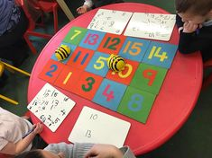 This week in Maths we are doing one more. This adult led activity used a beebot to move to different carpet tiles. The children had to identify the number it landed on and then state one more than that number. Maths Eyfs, Eyfs Activities, Number Activities, Math Games, Numeracy, Minibeasts Eyfs, Early Years Maths, Maths Area, Math Help
