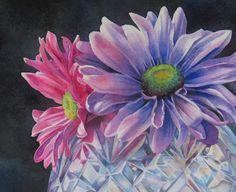 """Barbara Fox Art Studio: Painting Tutorial - """"Felicity"""" floral still life"""