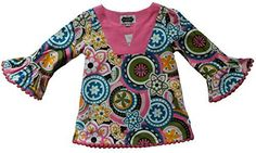 Mud Pie BabyGirls Paisley Tunic Blouse 1218 -- Check out this great product. (This is an affiliate link) #BabyGirlTops