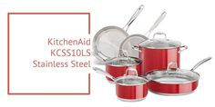 Kitchen Aid KCSS10LS Stainless Steel 10-Piece Cookware Set