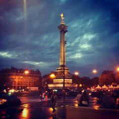 Place de la Bastille in Paris, Île-de-France