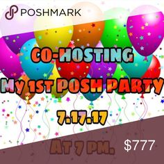 🎉HURAY !🎉 MY very 1st Posh Party Please help me to spread the word. If you like to be considered for a HOST PICK FOLLOW✅ , LIKE ❤️, and SHARE 🔁 this listing. Dont forget to tag your favorite closet !!!! Party Host  Other