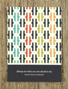 Always do what you are afraid to do teeeny. $8.00, via Etsy.
