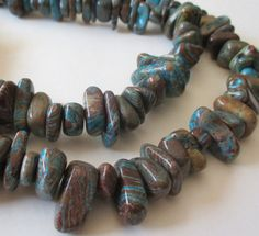 Crazy Lace Beads Blue Brown Crazy Lace Agate Beads by BijiBijoux