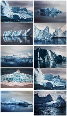 Zaria Forman, hyper realistic illustrations, pastels of places affected by climate change