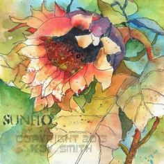 Last Sunflower, painting by artist Kay Smith