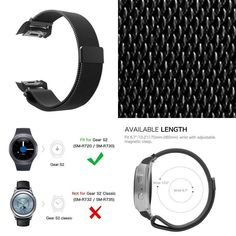 Watch Band For Samsung Gear Wristband Replacement Bracelet Steel Smartwatch Smartwatch, Watch Bands, Samsung, Steel, Bracelet, Watches, Best Deals, Ebay, Smart Watch