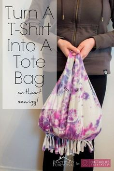 What a great (non-sewing) project! Kind of love this DIY idea for a bag.