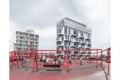 COBE transforms former grain silo into swanky apartments in Copenhagen Area Industrial, Famous Architects, Architect House, Street Furniture, Contemporary Architecture, Architecture Design, How To Be Outgoing, Street View, Landscape