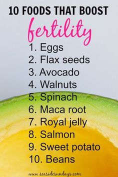 I love this list of foods for improving your fertility! This fertility diet helped me get pregnant faster! If you are trying to conceive, these foods should be a huge part of your fertility diet plan. Click through for even more tips and a free printable fertility meal plan!