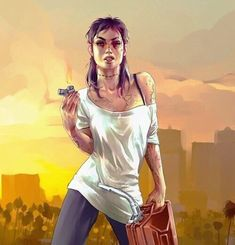 The female version of Trevor (GTA) is like his long lost twin - Imgur