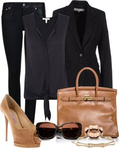 """Black & Tan"" by gangdise on Polyvore"