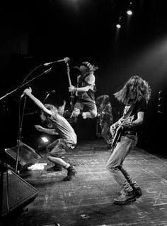 Pearl Jam: The early days.  I'm so lucky to have seen them before they made it big.