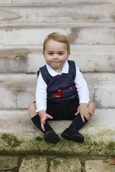 Pin for Later: 20 Pictures We Really Hope Prince William and the Duchess of Cambridge Have Framed This Grinning Picture of George Only an 8x10 will do.