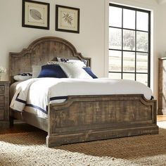 Create+a+relaxed+environment+with+the+rustic+look+of+the+Meadow+Bedroom+Collection+by+Progressive+Furniture.+Constructed+of+rough+hewn+salvaged+pine+in+a+weathered+gray+finish,+the+variations+apparent+in+the+wood's+finish+provide+modern+farmhouse+style+to+your+decor.