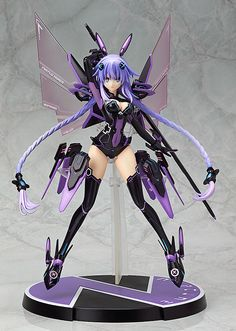 Hyperdimension Neptunia statuette Purple Heart Wing