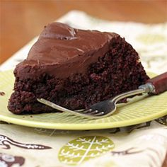 Vegan Chocolate Cake with Dark Chocolate Frosting