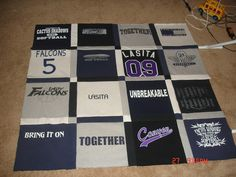T-Shirt Quilt - How to Make Your Own I want to make one with my UK shirts after I graduate