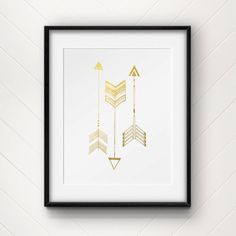 Tribal Arrows Gold Foil Print by CollectivityLane on Etsy