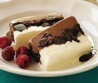 Chocolate Fudge Brownie Terrine - The ultimate ice cream dessert! Layer upon layer of heavenly sweetness that everyone will love. Freezer Desserts, Fun Desserts, Delicious Desserts, Chocolate Fudge Brownies, Chocolate Desserts, Ice Cream Deserts, Cake Recipes, Dessert Recipes, Meat Shop