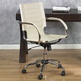 Found it at Wayfair - Mid-Back Trinidad Office Chair $158 - available in cream, white, black, esspresso or red
